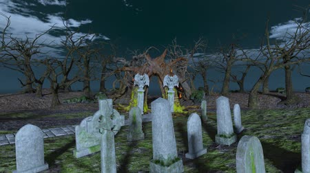 headstone : 3D CG rendering of Grave