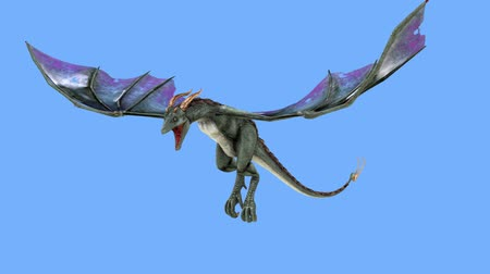 draak : 3D-cg rendering van Flying Dragon