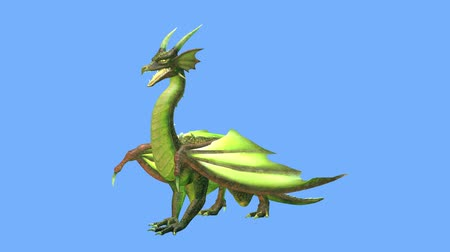 fantázia : 3D CG rendering of Flying Dragon Stock mozgókép