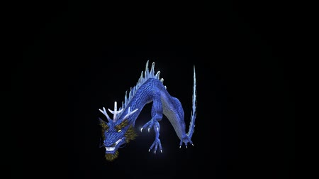3D CG rendering of Flying Dragon Stock Footage
