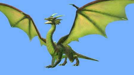 3D CG rendering of Flying Dragon Filmati Stock