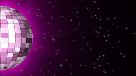 клуб : Disco Ball. Halb disco ball with space particle. Looping