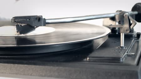 rock album : turntable vinyl record player. The music on the disc plate