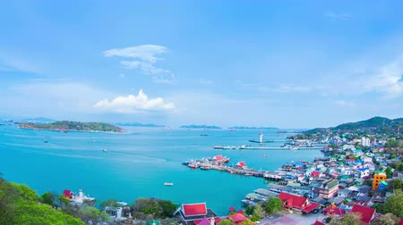 zahmetsiz : Island sichang beautiful sights Thailand. Stok Video