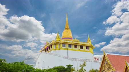 skulptur : Die Golden Mount in Wat Saket, Reisen Landmark Bangkok THAILAND Videos