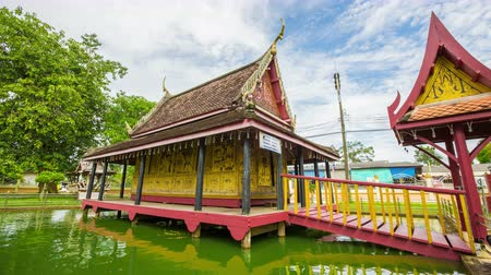 szerzetes : Thailand pavilion beautiful water collection recorded Buddhism, Wat ta gad gao,. Chanthaburi, Thailand