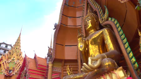 adore : wat tham sua religious attractions in  Kanchanaburi, Thailand. Stock Footage