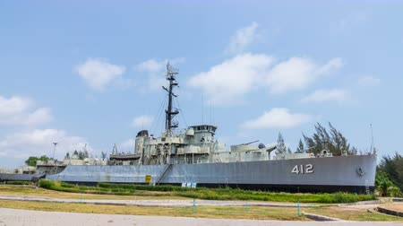 destroyer : Battleship, tourist memorial board has a significant history navy Thailand.
