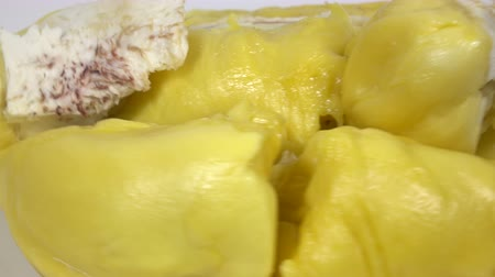yellowish green : Close up  Delicious yellow durian Asian summer fruit In Rotation Stock Footage
