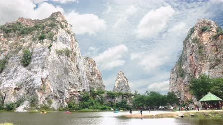 ratchaburi : Ratchaburi, Thailand November 05, 2017: Park Rock Tham Khao Ngu Nature attractions in beautiful Thailand.