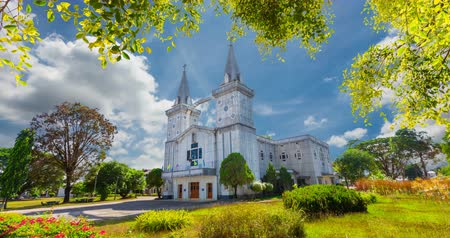 thai kültür : Wat Anna Nong Saeng is a beautiful Christian church in Nakhon Phanom province. Located on the Mekong.