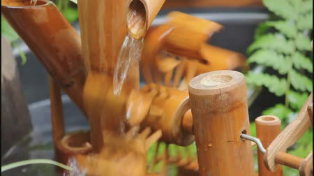 bambusz : Bamboo waterfall in temporary small Landscaping