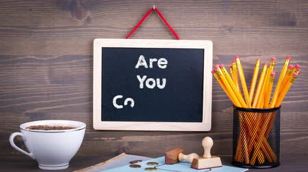 醫療保健 : Are You Covered.Text on a chalkboard background. 影像素材