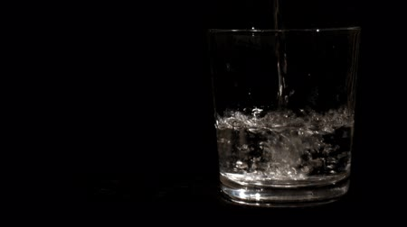 pouring : Pouring Water into Glass 1 Stock Footage