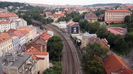 prague bridge : Rail road in Prague