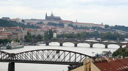 prague bridge : Charles Bridge and Prague Castle