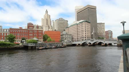 rhode : Providence, Rhode Island. City skyline in New England region of the United States. Stock Footage