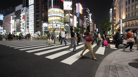 kanto district : TOKYO - MAY 8: Evening illumination in Ginza on May 8, 2012 in Tokyo. Ginza is recognized as one of the most luxurious shopping districts in world, with many flagship luxury brand stores located here.