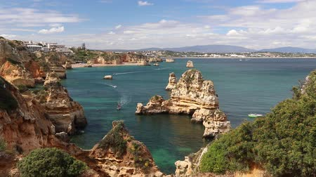 lagos : Portugal Atlantic coast in Algarve region. Lagos area. Stock Footage