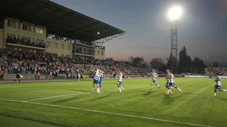 terep : Soccer match between FC Sevastopol - FC Alchevsk STEEL. Stadium of Sevastopol, Crimea, Ukraine. Sound included.