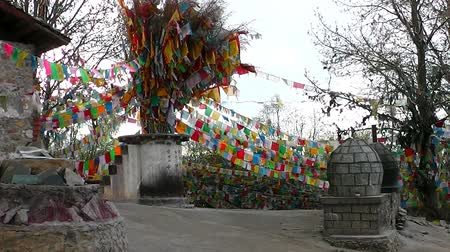 tybet : In Tibetan monastery. Shangri-la. China.