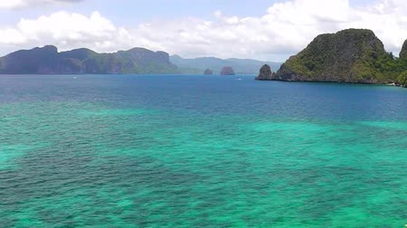 The tropical sea and islands. El Nido. Stok Video