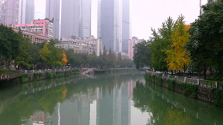 Foggy day in the city of Chengdu. China