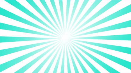 comics pop : Animated motion graphic of comic lined sunburst, starburst, pinwheel rotating and spinning infinity loop in retro vintage style. Light green and white with copy space in center