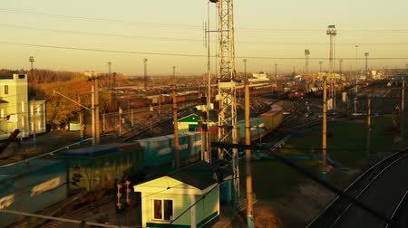 shipping : Railway yard, time lapse Stock Footage