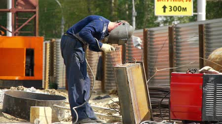koruma : welders at work Stok Video