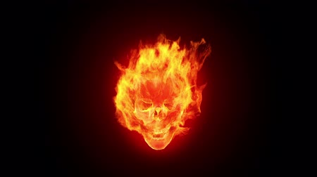 csontváz : Fire skull, HD loop