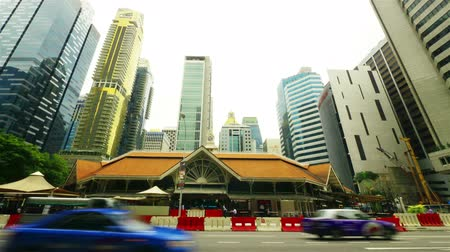 lapse : Singapore street. Timelapse in motion