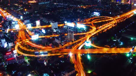 encruzilhada : Bangkok at night. Timelapse
