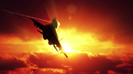 donanma : Three Fighter Jets Stok Video