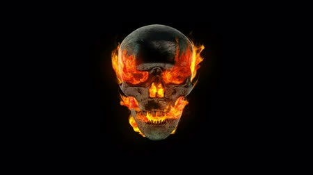 szatan : Burning skull
