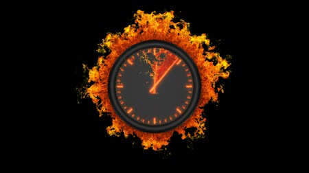 cronômetro : Burning clock
