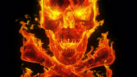 szatan : Burning skull and crossbones