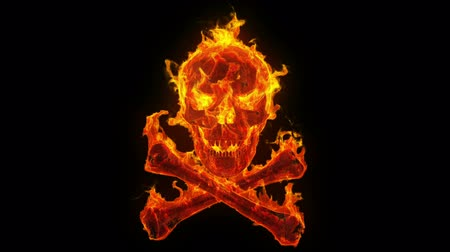 rocks red : Burning skull and crossbones