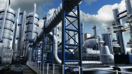 boru : Chemical Plant Stok Video