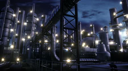 rafineria : Chemical Plant at night