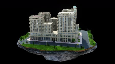 tridimensional : Construction of big residential building