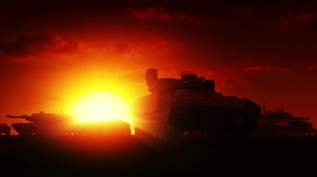 blindado : Military Tanks at sunrise