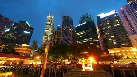 kerület : Singapore at night, timelapse in motion