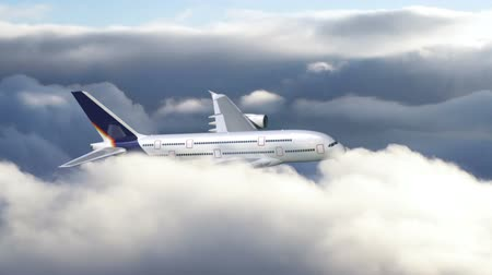 alma : Airplane flying through clouds