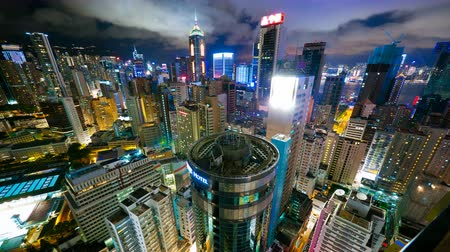 lapse : Hong Kong at night from roof, 4k timelapse, 4096x2304px