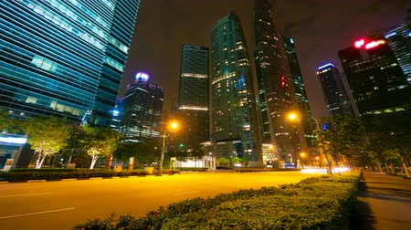 lapse : Singapore at night, 4k timelapse in motion, full HD Stock Footage