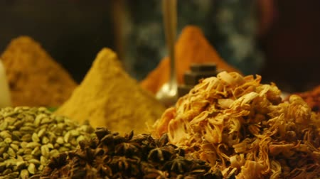 papryka : Different spices at Goa market