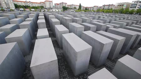 vermoord : The Holocaust Memorial in Berlijn Duitsland.