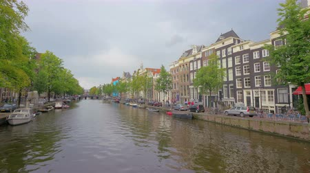 Canal in Amsterdam Holland 4k UHD