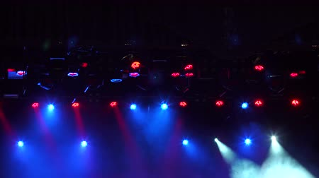 nagy felbontású : Blue and red stage lights, light show at the Concert. Stage lights and smoke. High resolution.